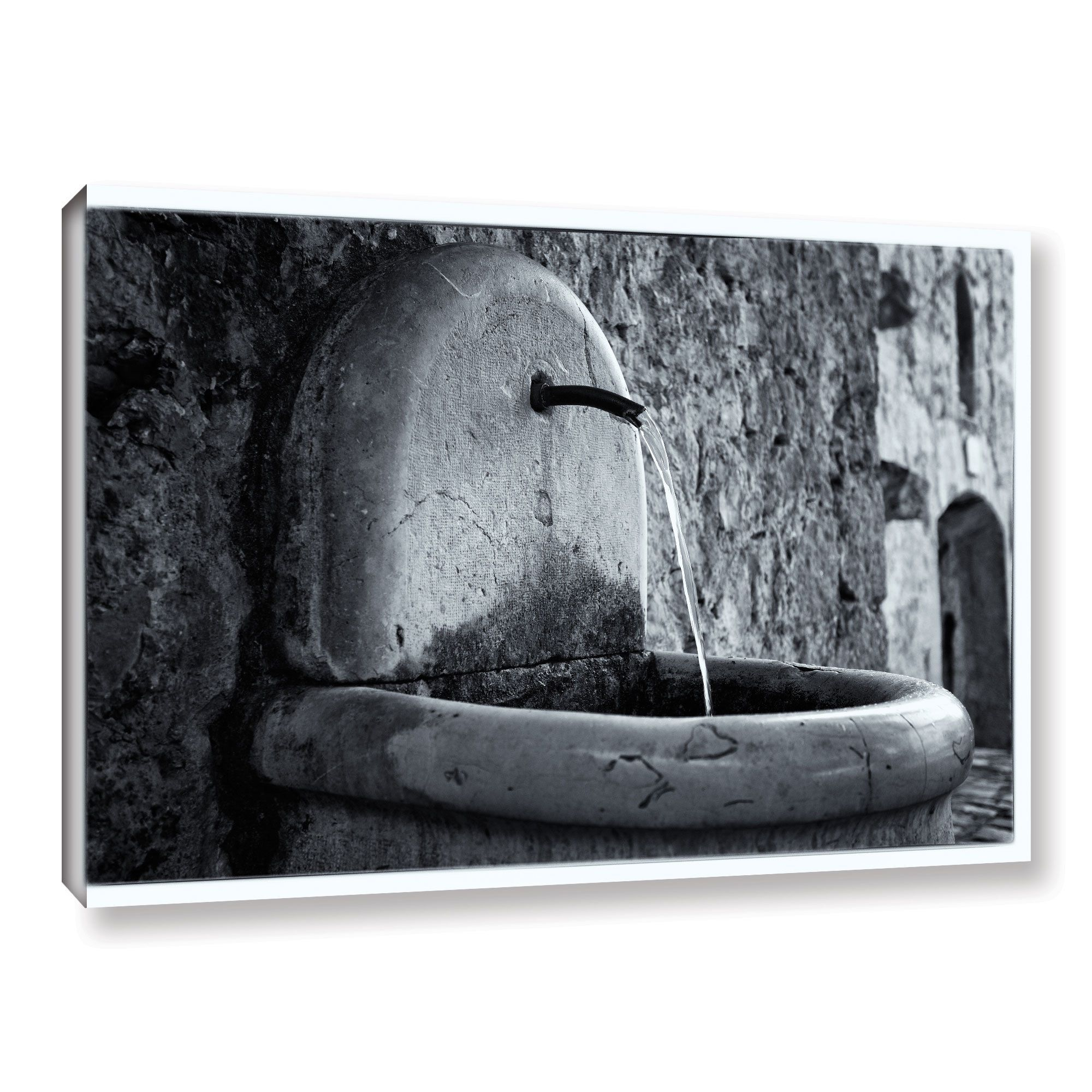 ArtWall Simon Kayne 'St. Paul De Vence Fountain' Gallery Wrapped