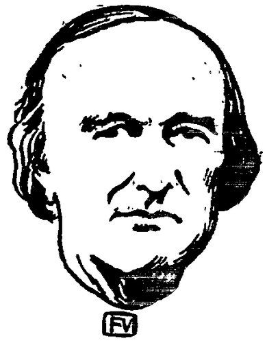 Felix Vallotton「Portrait of French bishop Georges Darboy」