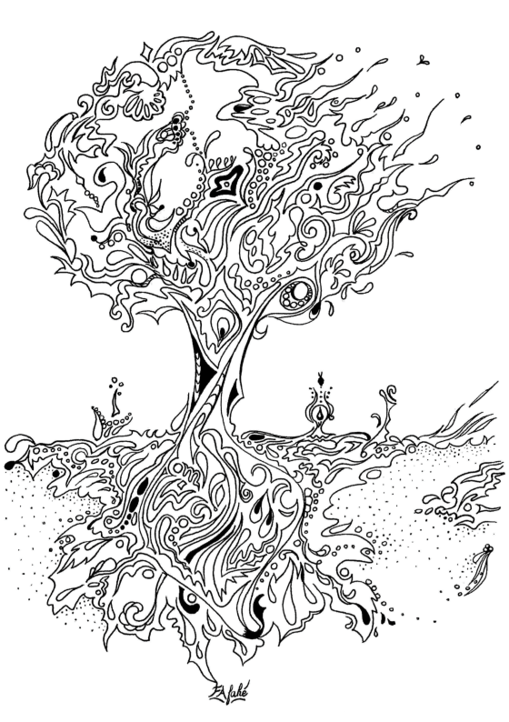 Adult Coloring Pages Tree 2