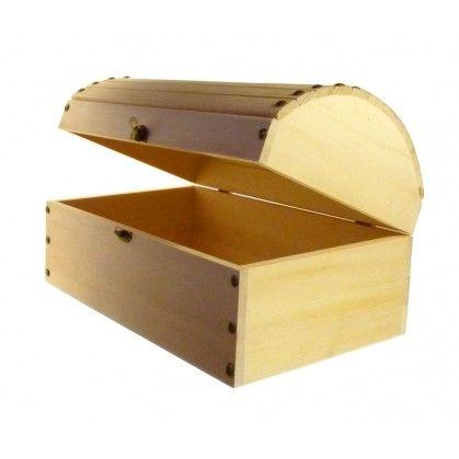 livraison gratuite d3a50 8c096 Grand coffre de pirate, boite à trésor, en bois brut, de ...
