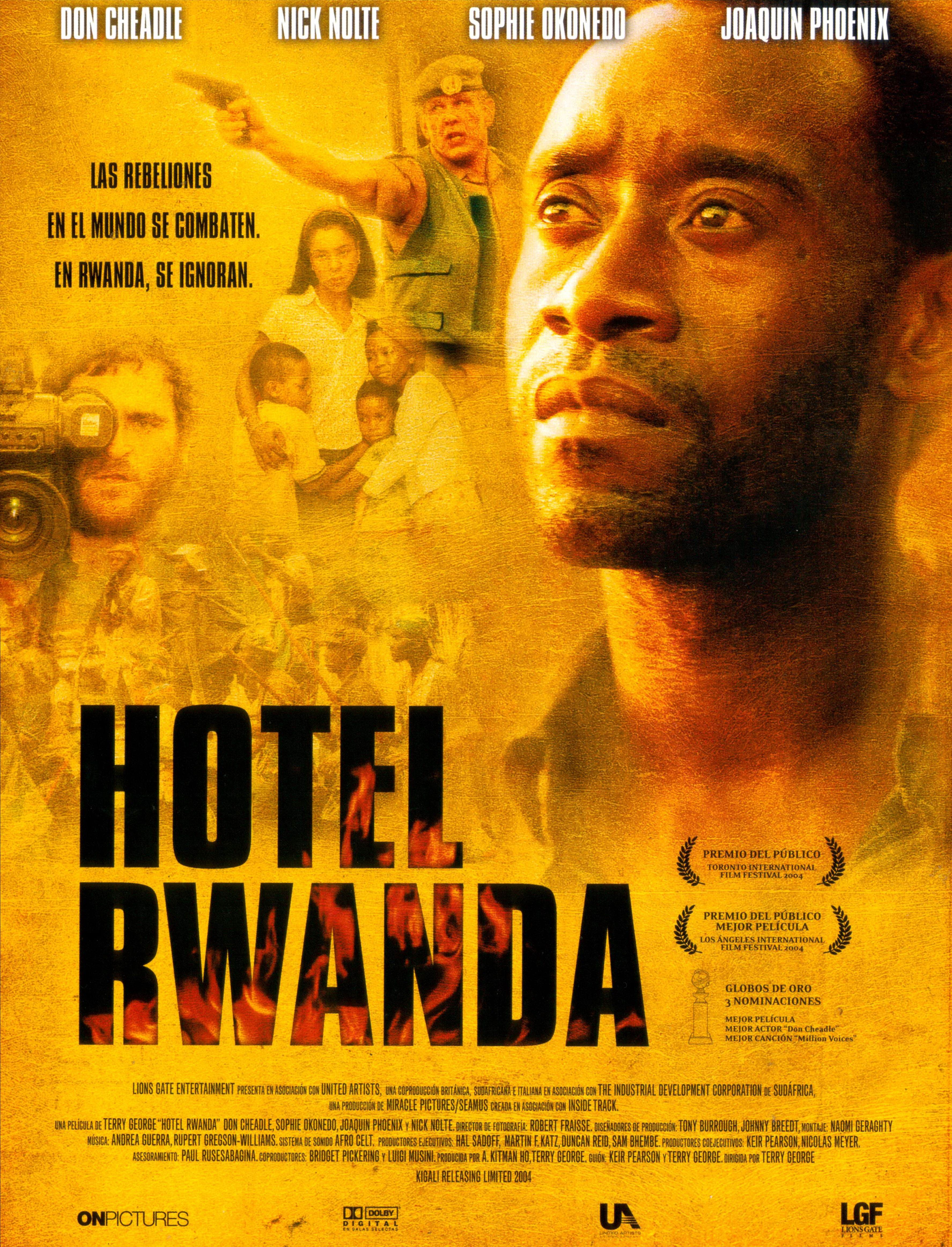 Hotel Rwanda Carteles De Cine Pelculas