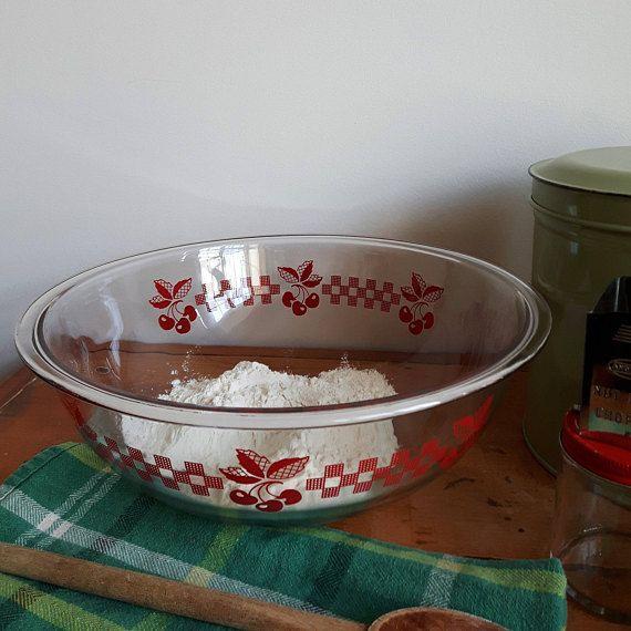 Pyrex Cherry Bowl, Vintage Pyrex, Pyrex Mixing Bowls, Pyrex Bowls ...