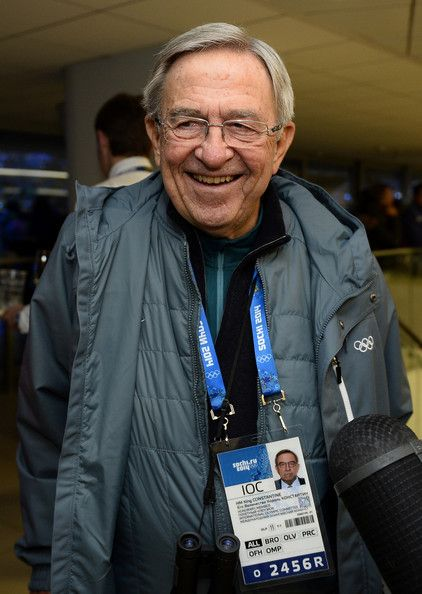 King Constantine of Greece smiles upon his arrival for the opening ceremony of the Sochi 2014 Winter Olympics at the Fisht Olympic Stadium on 07.02.14 in Sochi, Russia