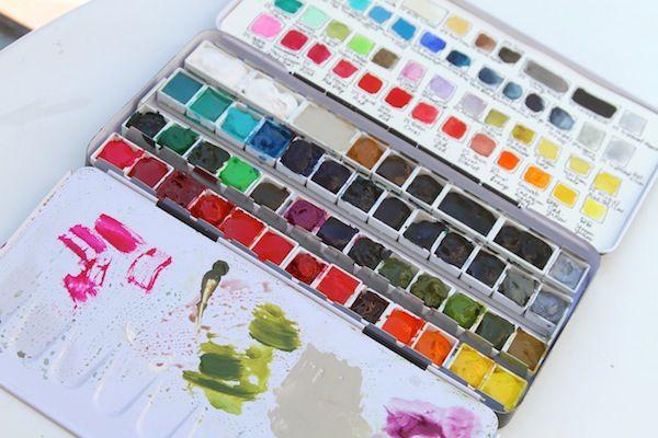 Watercolor Palette Building Watercolor Art Watercolor Pans