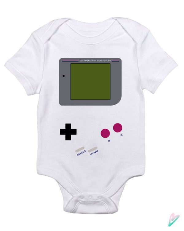 Game Boy Baby Clothes Infant Bodysuit Jumper Shower Gift cute Fun Cool Mom Christmas Gamer NES Video Game Funny Hipster Pregnant Nerd Geek by TeenieTees on Etsy https://www.etsy.com/listing/203808563/game-boy-baby-clothes-infant-bodysuit