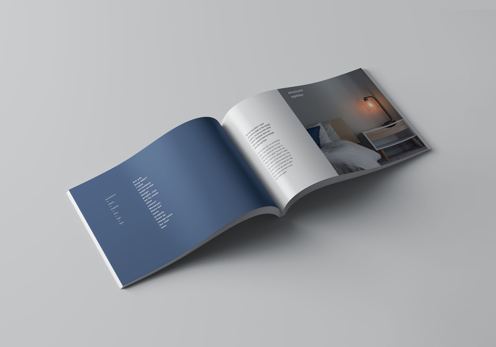 A4 Landscape Perfect Binding Brochure Mockup Brochures Mockups Perfect Binding Brochure
