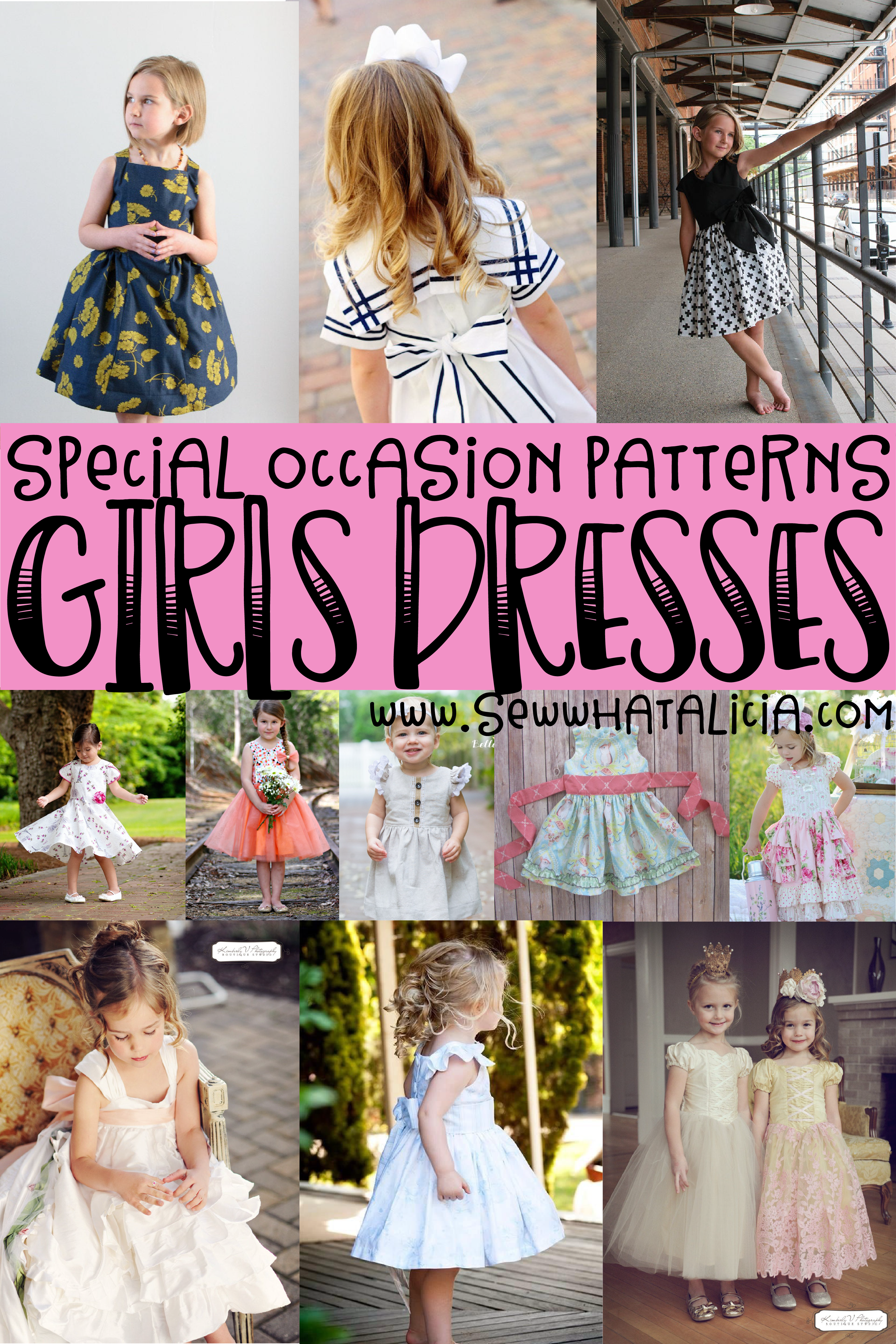Girls Dress Sewing Patterns for Special Occasions  Girls dress