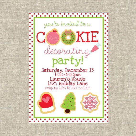 cookie decorating party Unique Pastiche Events – Cookie Party Invitation