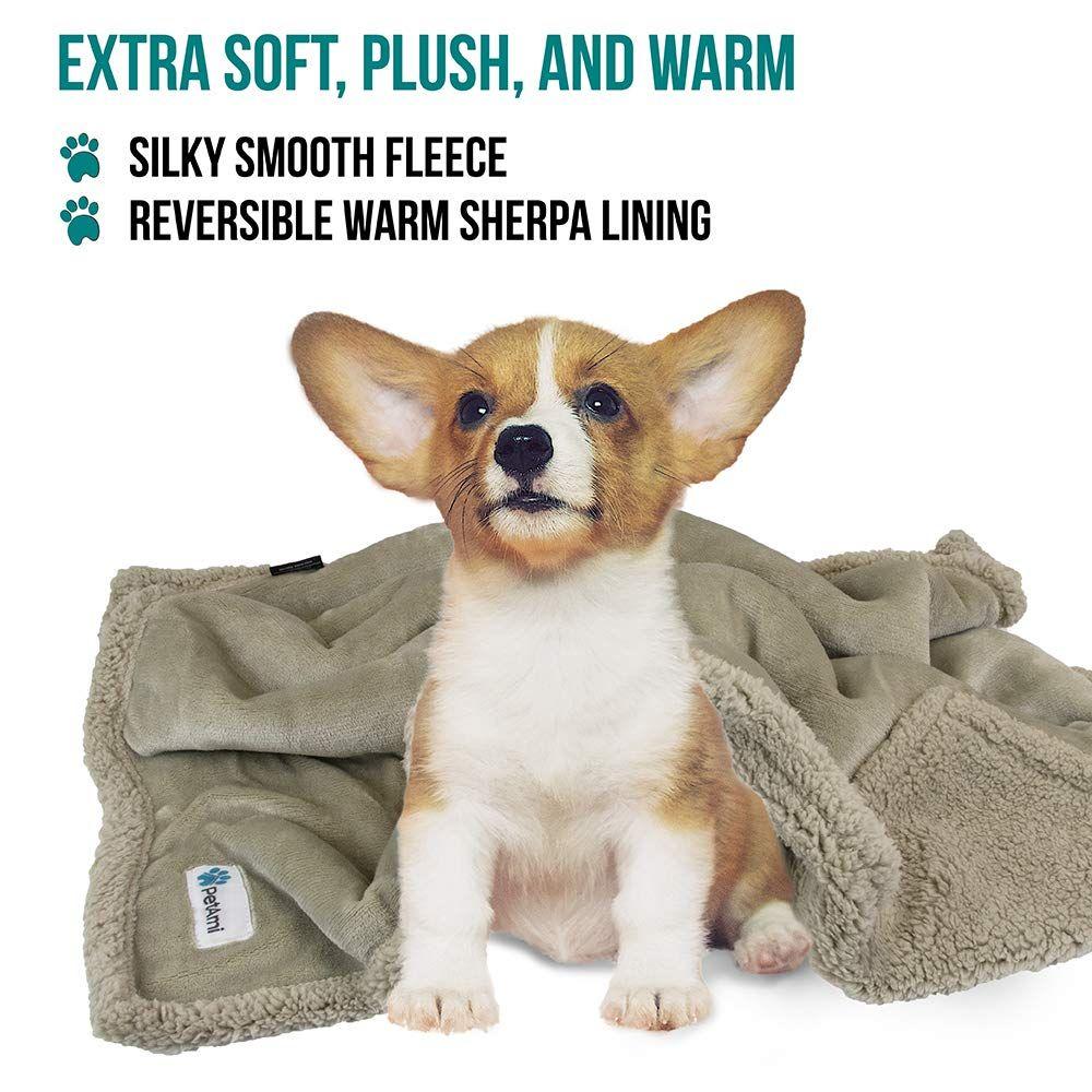 Petami Premium Puppy Blanket Pet Small Dog Blanket For Cats Kitten Soft Warm Plush Reversible Fleece Sherpa T Puppy Blanket Dog Blanket Blanket Dog Bed