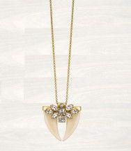 pretty twin tusk necklace