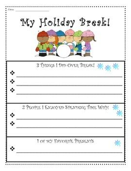 Holiday break 1 2 3 writing graphic organizers templates holiday break 1 2 3 writing graphic organizers templates paper pronofoot35fo Gallery