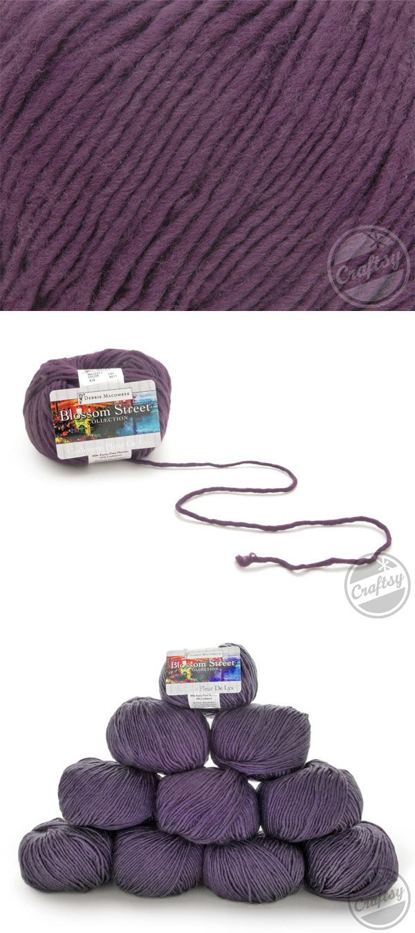 50% off TEN Skeins of Debbie Macomber Cashmere Fleur De Lys Yarn (Majesty). Click the image or: http://www.craftsy.com/ext/20121120_YarnPin1