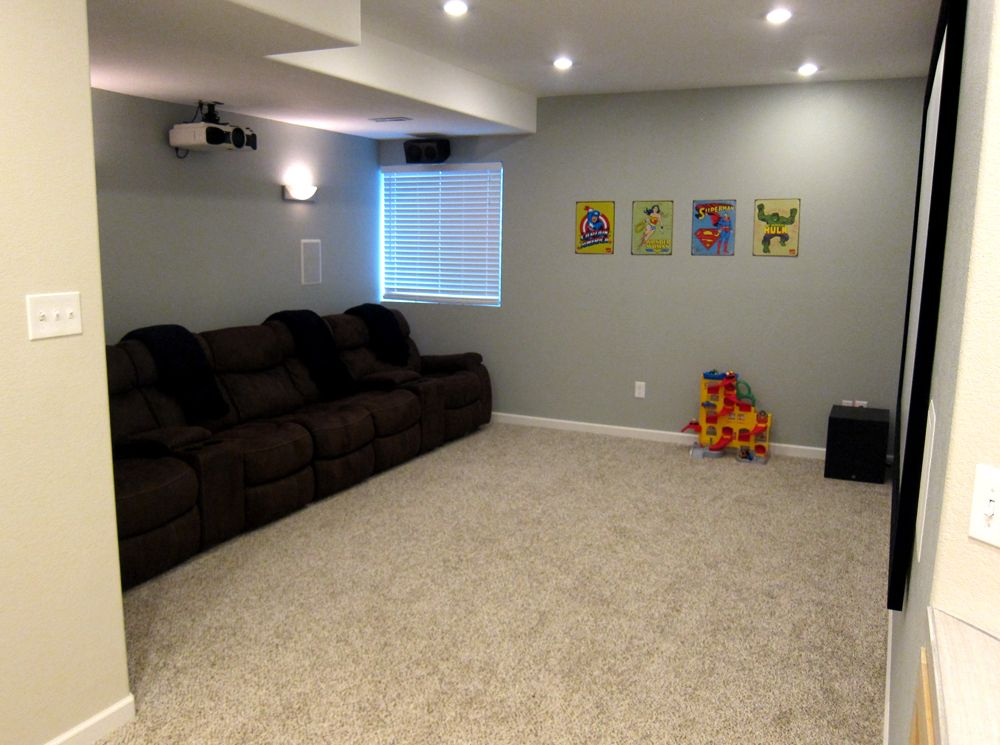 Finish Basement Home Theater Before And After Pictures Best