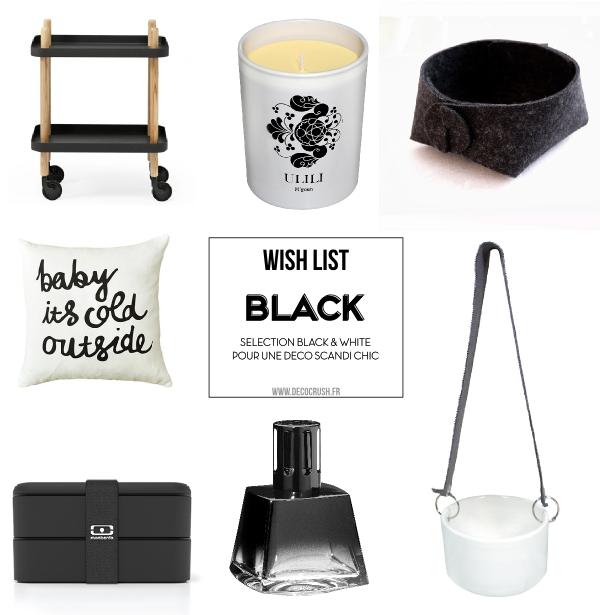 Shoppping 7 objets déco pratiques et chic pour une touche de noir