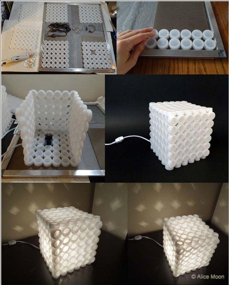 DIY Creative Plastic Bottle Cap Lamp