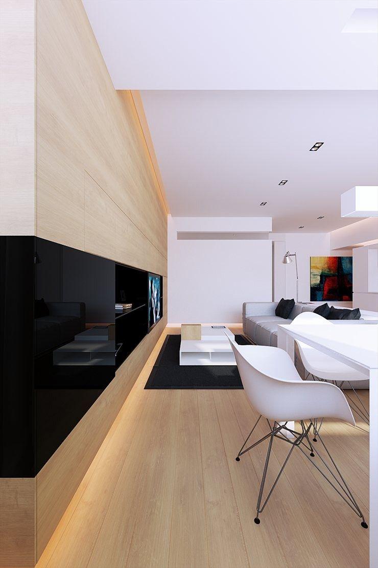 Meuble Tv Int Gr Dans L Appartement 100m Tv Meuble Tv Et  # Meuble Tv Integre Electrique