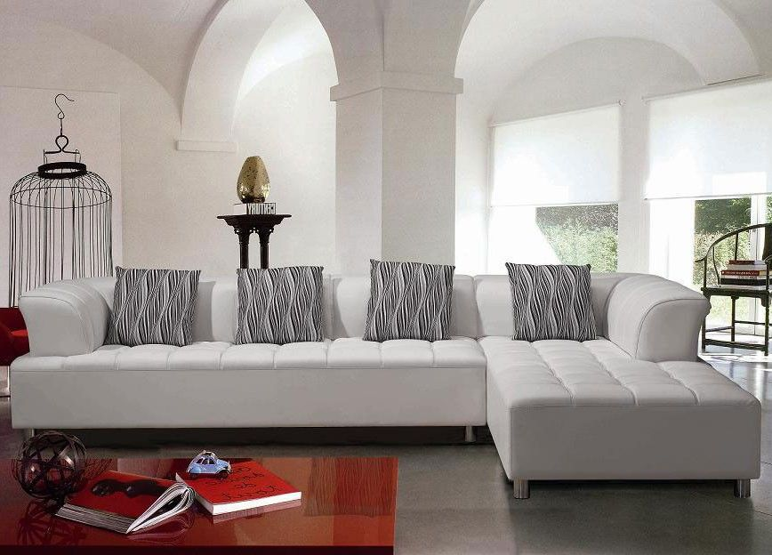 sectional contemporary sofa | Modern White Sectional Sofa Set ...