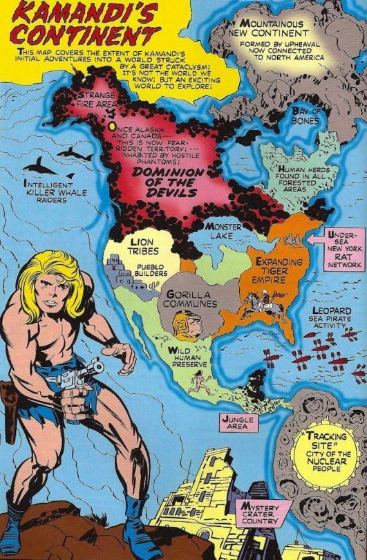 Dc Comics World Map : comics, world, Around, Myworld