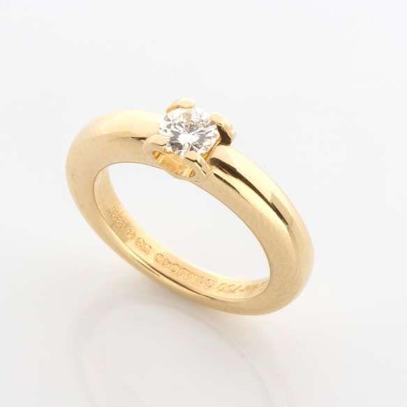 d4482960e Cartier - Anel solitário de ouro amarelo 18k e diamante lapidação brilhante  regulando 0,50ct