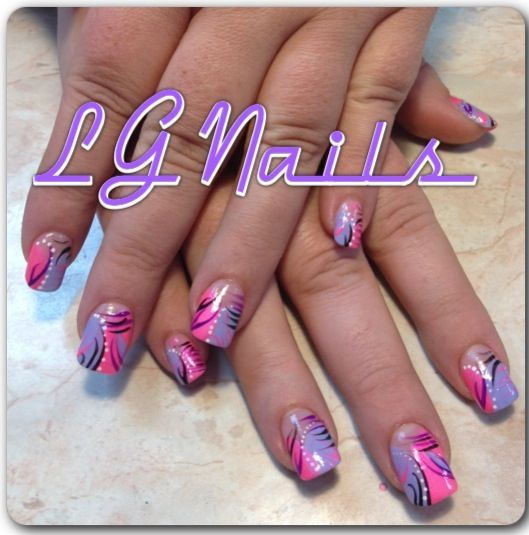 Image result for Abstract Designs on Nails - Image Result For Abstract Designs On Nails Diseño De Uñas