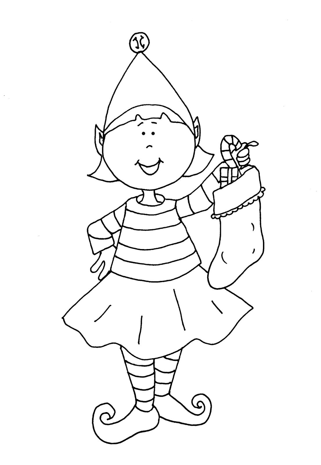 free christmas coloring pages to print for girls free dearie dolls digi stamps elf - Girl Elf Coloring Page