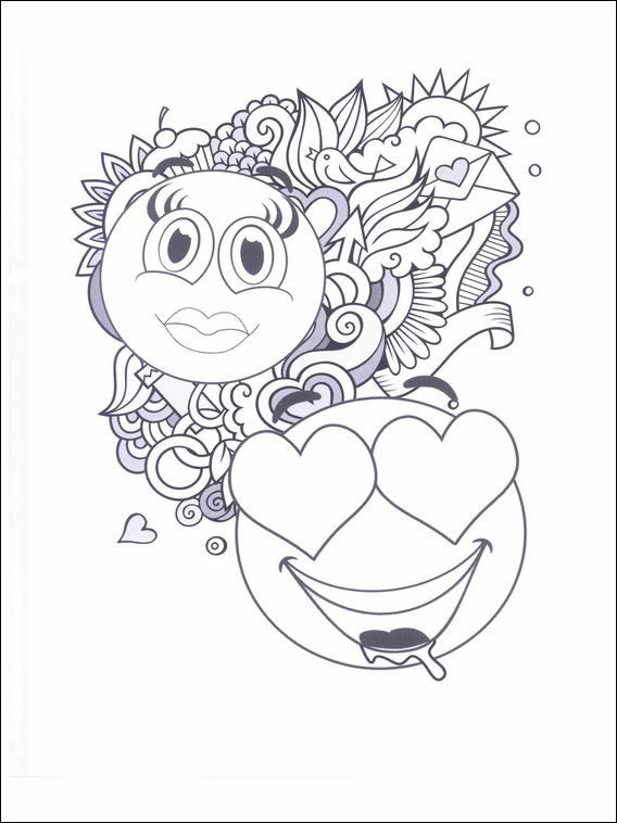 Emojis - Emoticons Coloring Pages 21