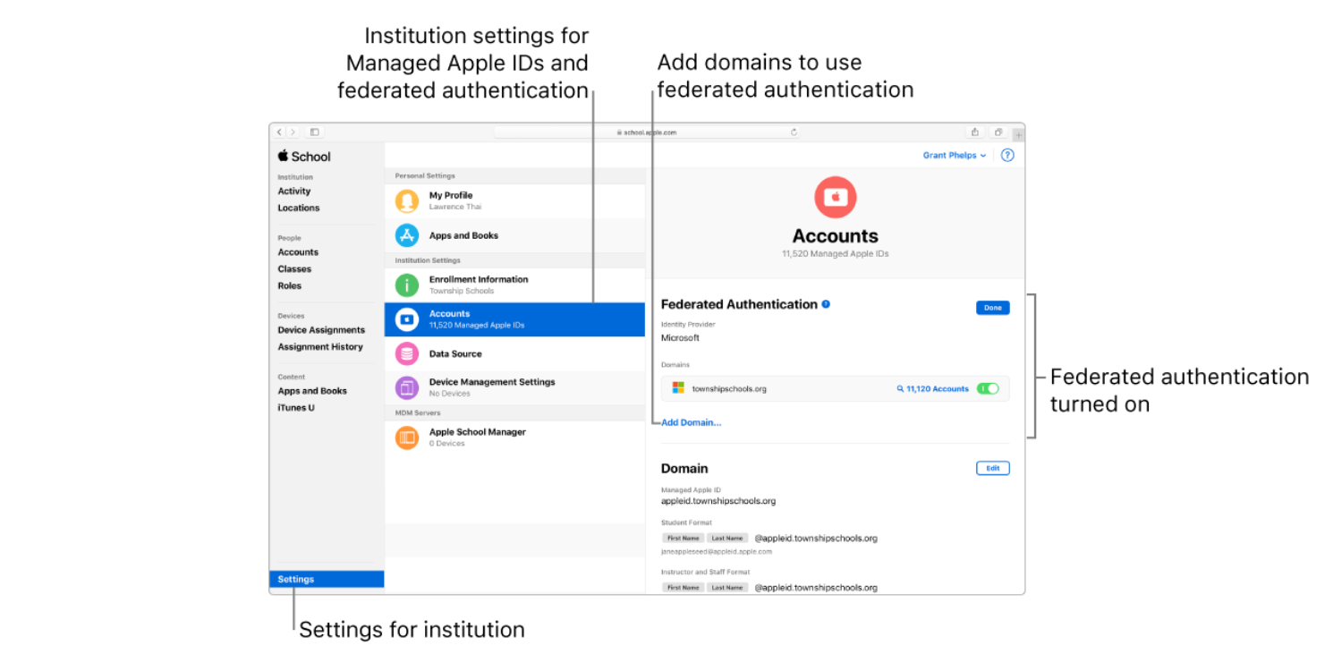 Apple launches federated authentication with Microsoft