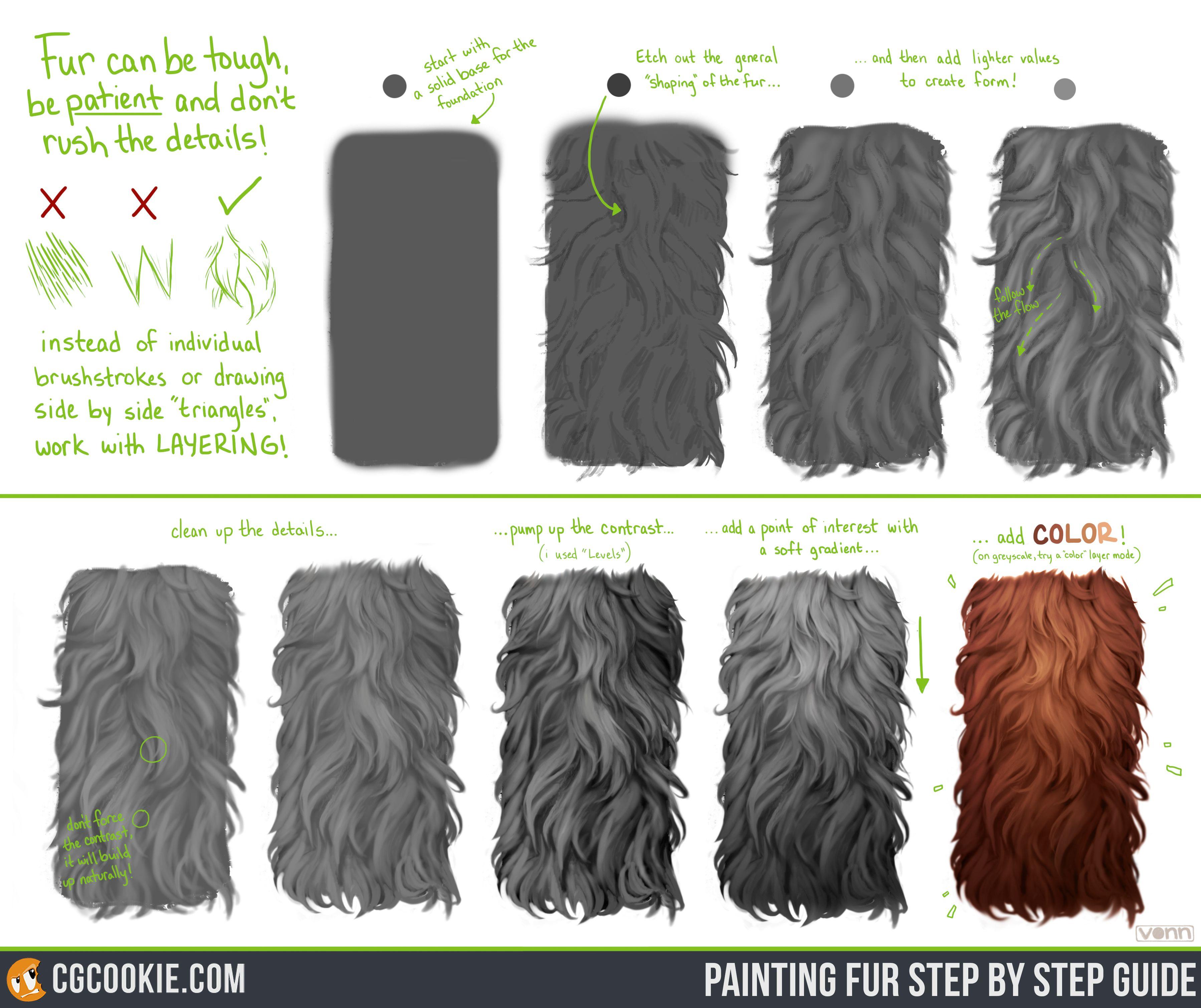 photoshop how to draw fur