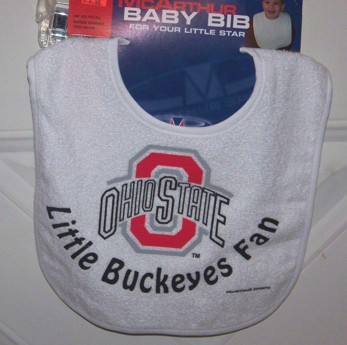 Ohio State University OSU  Buckeyes baby bib