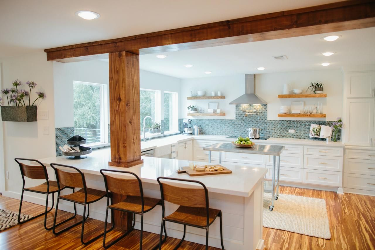 fixer upper bringing a modern coastal look to a faceless bunker hgtv s fixer upper with on kitchen layout ideas with island joanna gaines id=78486