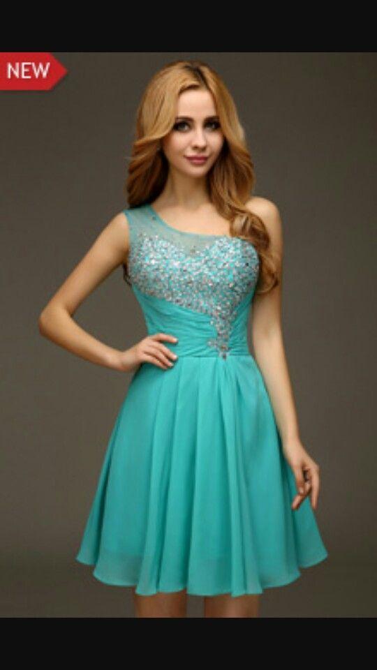 a2fb761143 Turquoise Grade 8 Grad Dress