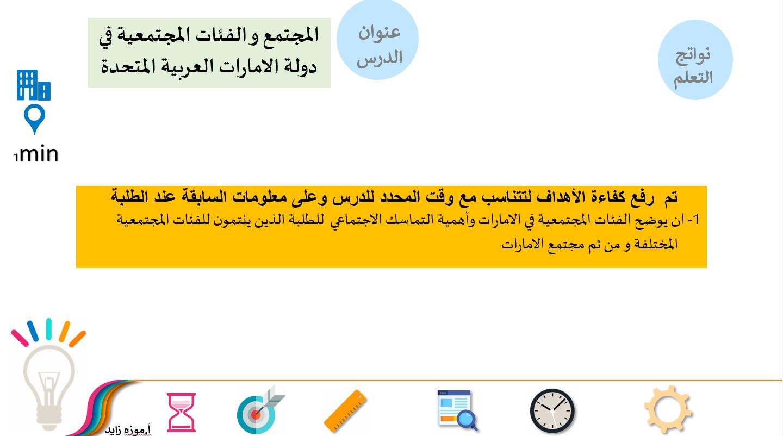 بوربوينت المجتمع و الفئات المجتمعية في دولة الامارات العربية المتحدة للصف الثامن مادة التربية الا Ios Messenger