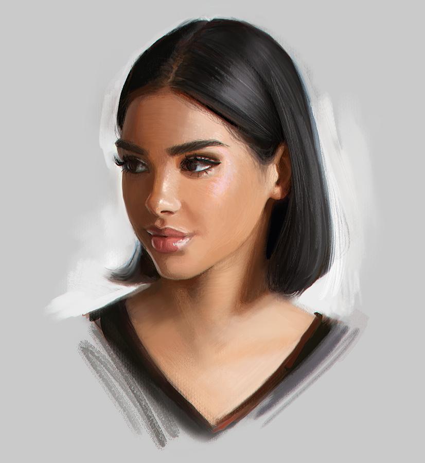 цифровой портрет арт портрет фотоарт арт в подарок как ...