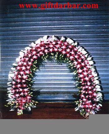 fresh artificial flowers decoration ganpati decoration