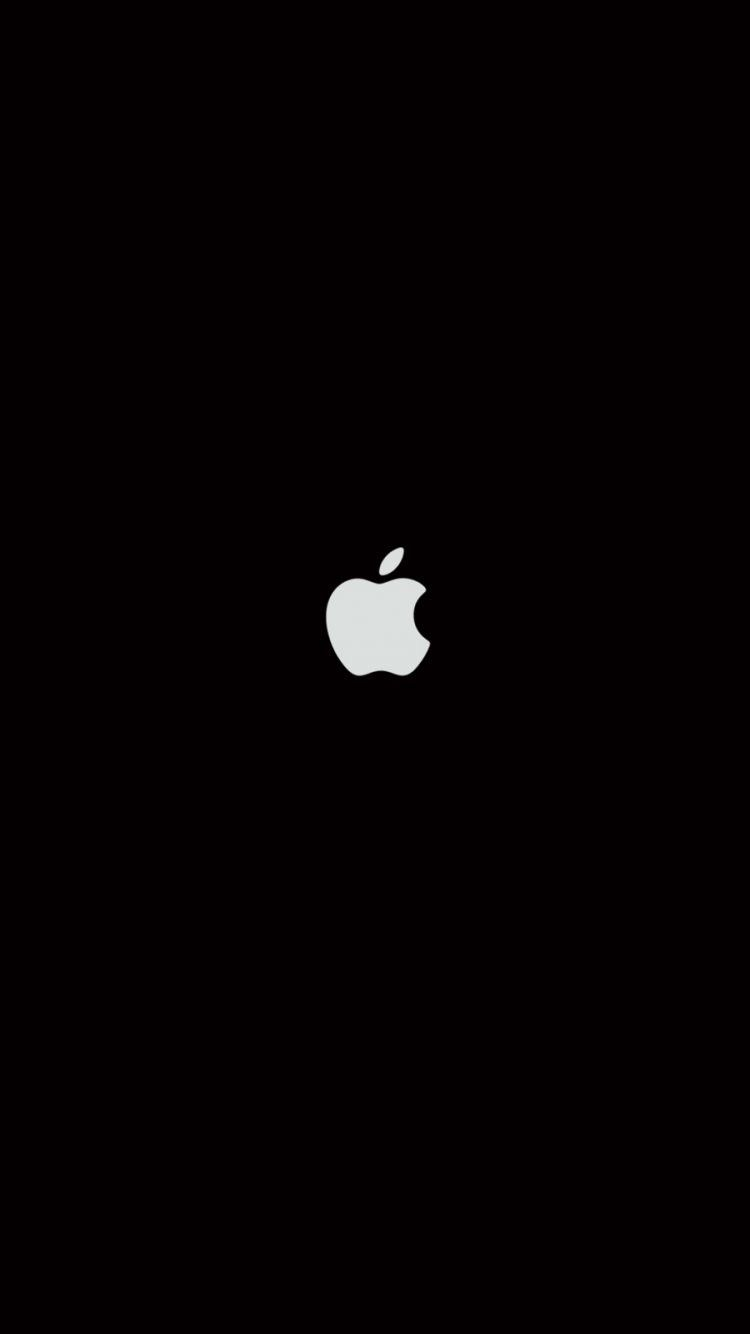 Plain Black iPhone 6 Wallpaper 27063 - Logos iPhone 6 Wallpapers | Drawing | Apple logo ...