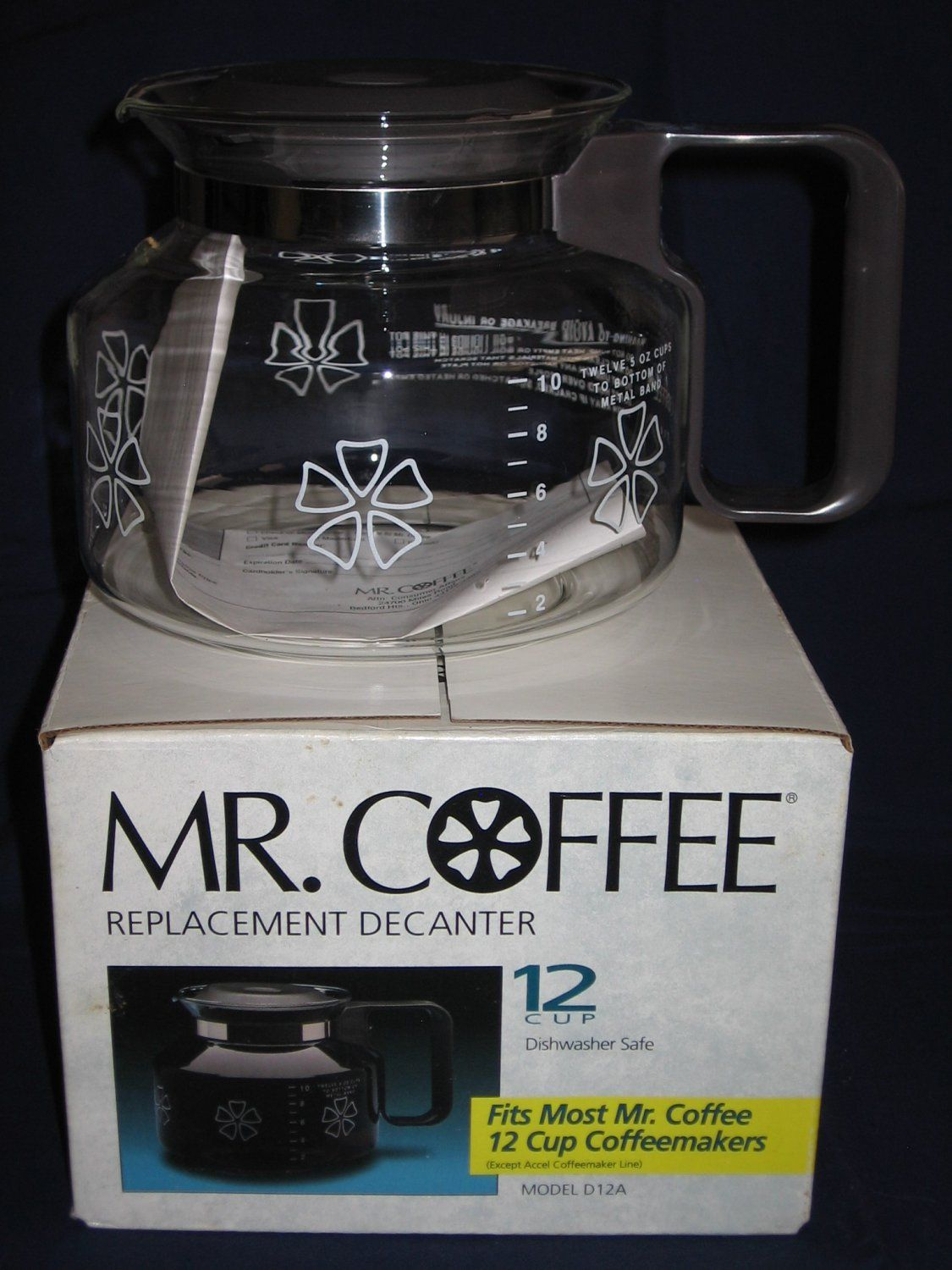 For Mr Coffee 12 Cup Gl Replacement Decanter Carafe Model D12a New