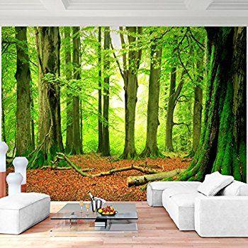 Fototapete Wald Bäume 352 x 250 cm Vlies Wand Tapete Wohnzimmer - moderne tapeten fr schlafzimmer