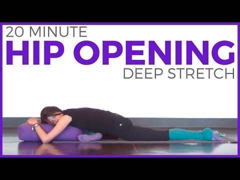 20 minute deep stretch yoga for hips  sarah beth yoga