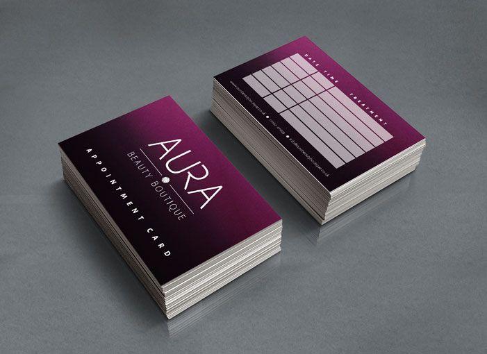 Aura Beauty Boutique Appointment Cards Beauty Salon Design nu