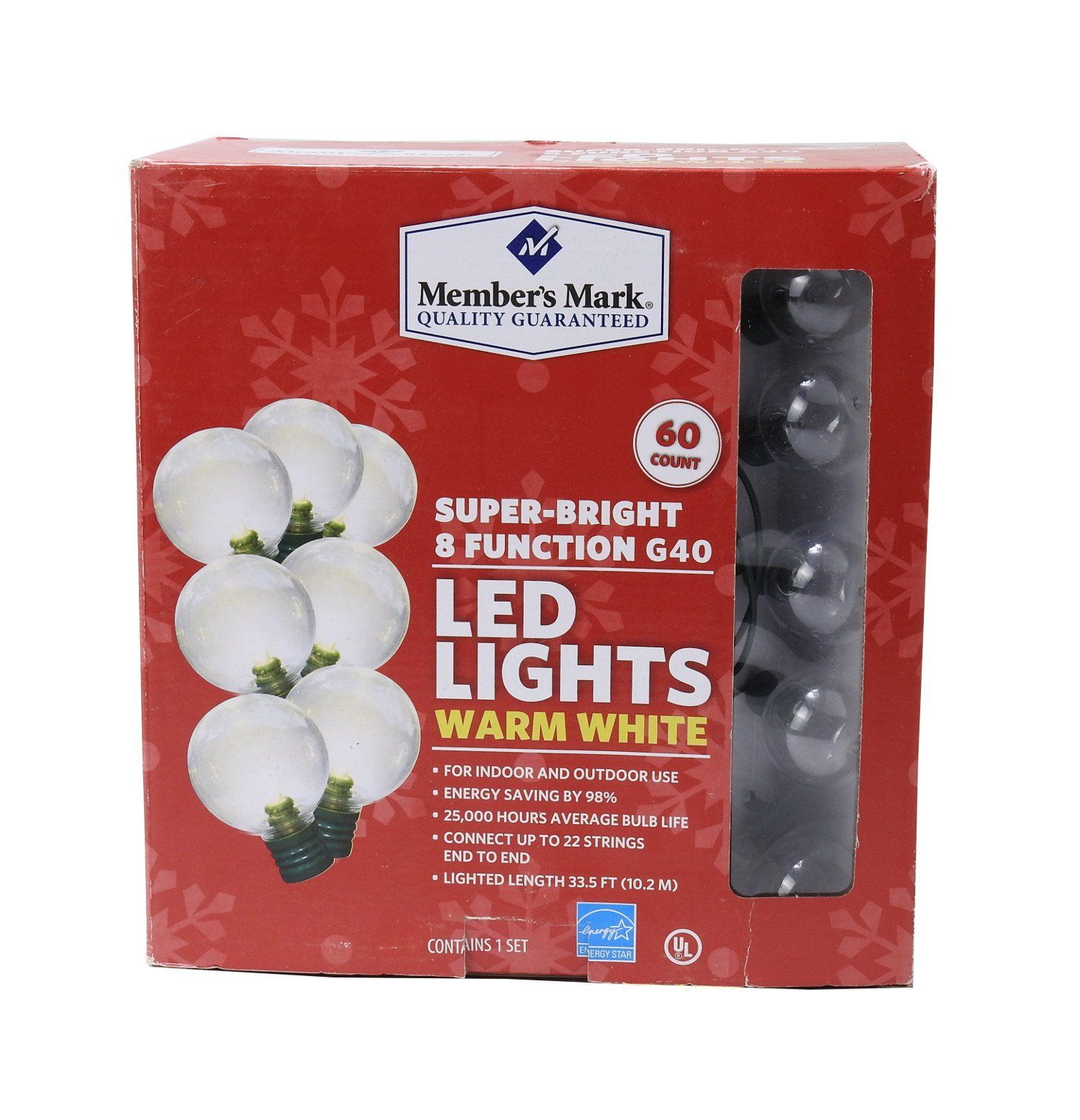 NEW Members Mark 8 Function Super Bright LED G40 Lights lamps Warm White 60!