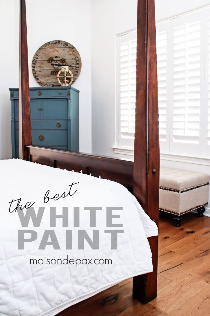This Is The Best White Paint Not Too Cool Or Warm And Amazing Coverage In Just One Coat Perfect For A Family Room Bedroom Maisondepax