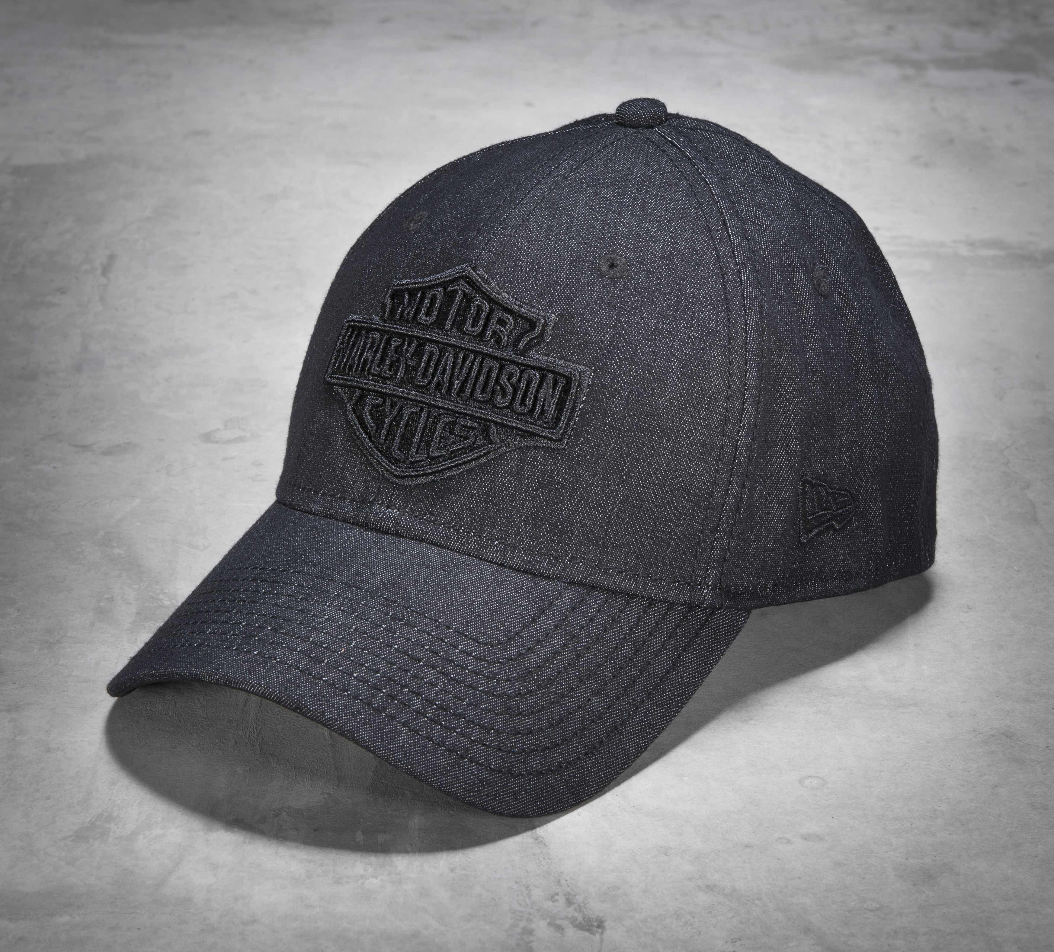 A handsome update of the snapback classic in cotton twill and stretch fit. | Harley-Davidson Men's 39THIRTY Grey Baseball Cap