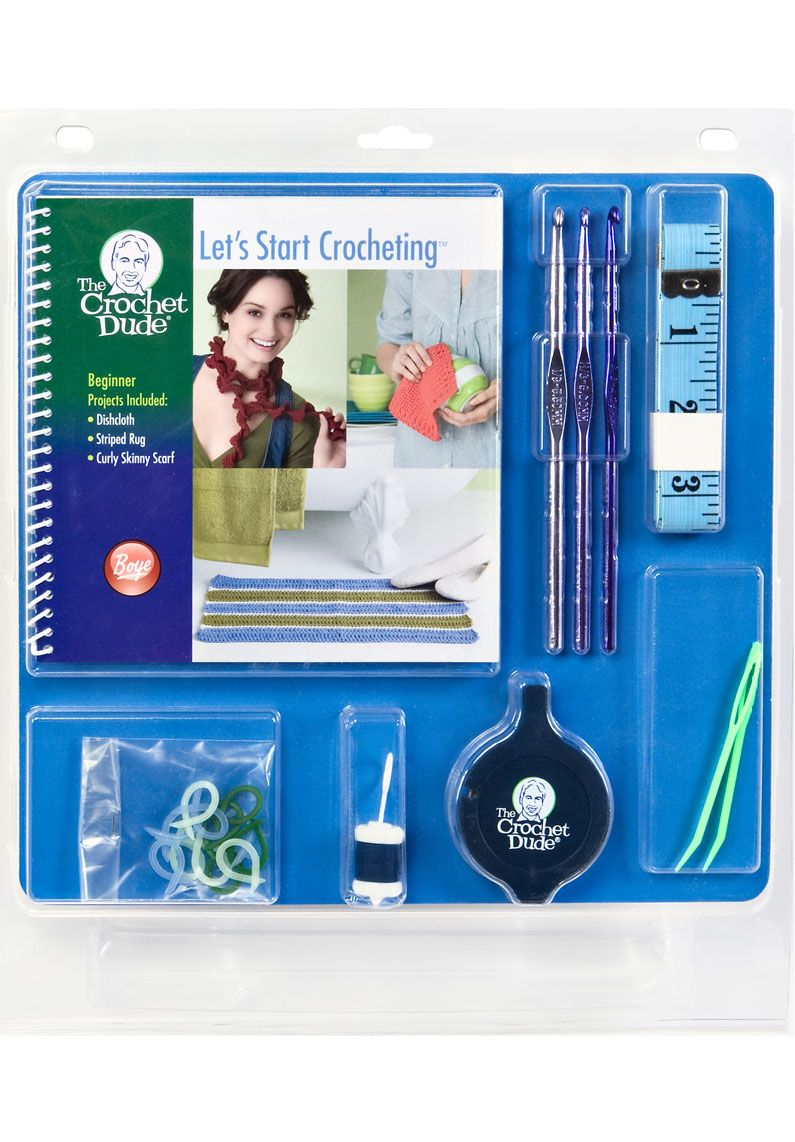If you are looking to learn to crochet and can't take a class this 20.00 kit is a great place to start!! #thecrochetdude