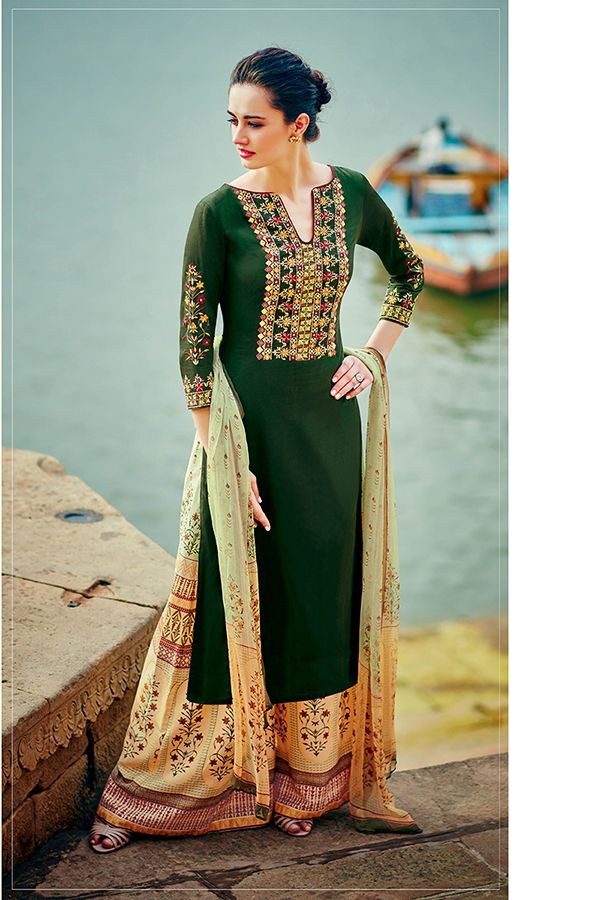 Mehndi Green Color Cotton Satin Fabric Palazzo Suit Indian Outfits Designer Suits Online Fashion,2 Bedroom Apartment For Rent Toronto North York