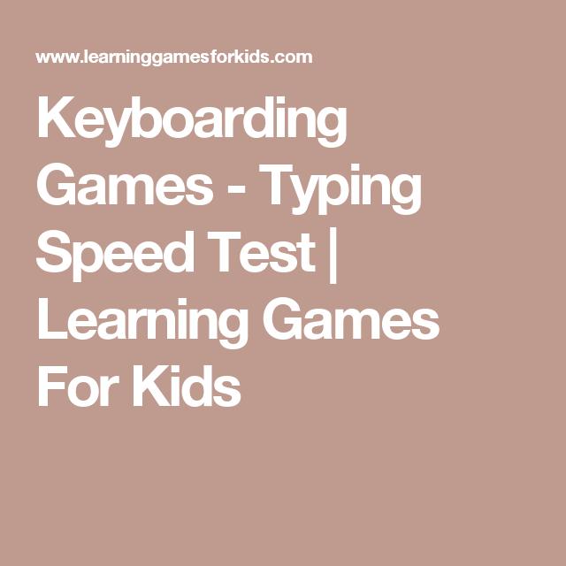 Keyboard typing - Helpful Games