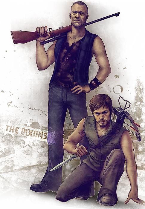 Daryl and Merle Dixon