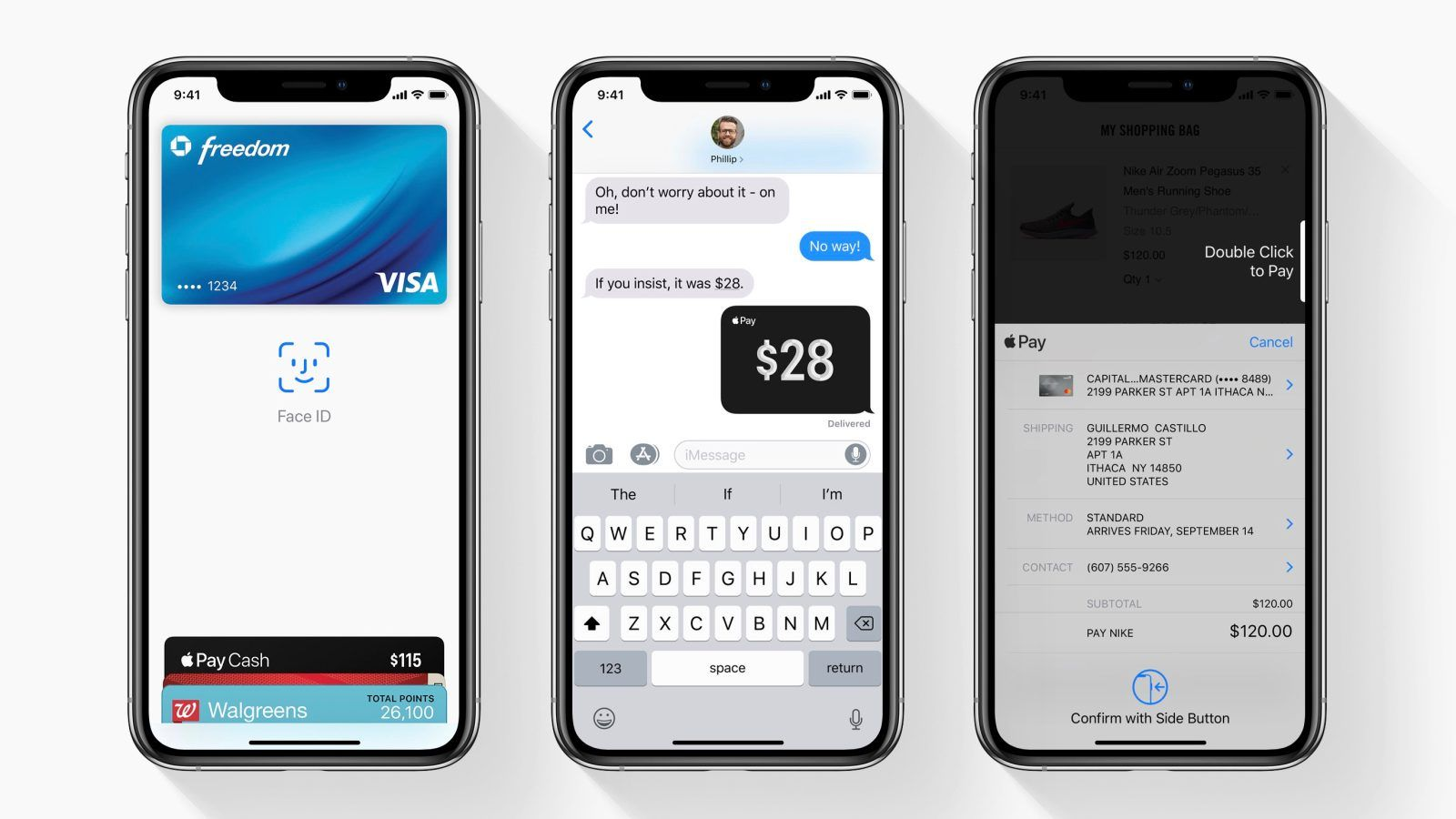 After setting up Apple Pay on your iPhone X, XS, or XR, you
