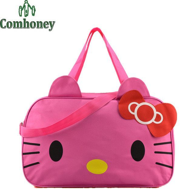 415bcaf11517 Hello Kitty Handbags Women Travel Bags for Girls Cartoon Shoulder Bag Big  Capacity Girls Travel Bag Handbags for Travelling Toto