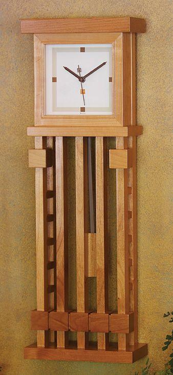 Bogk house wall clock frank lloyd wright arts and crafts for Frank lloyd wright craftsman style