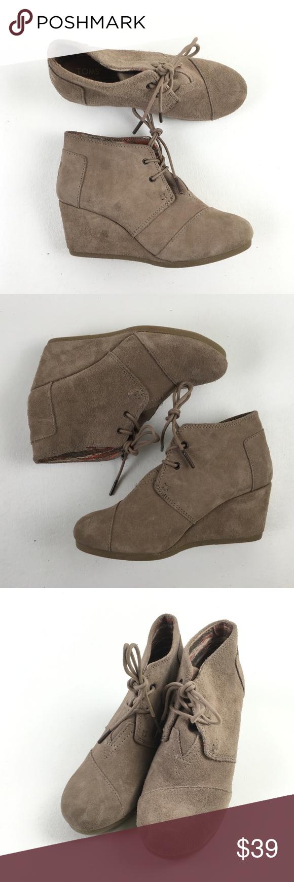 c13de52e9df Toms Sand Desert Wedges X9815764 Toms Womens Sand Cute Booties Boots Shoes Desert  Wedges 6.5 X9815764